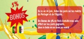 5% de bonus pmu.fr brésil 2014