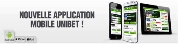 application mobile unibet