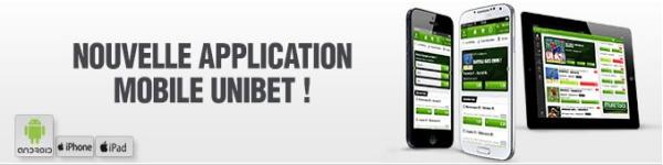 application mobile unibet
