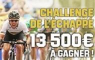 Challenge de l'échappé sur Unibet : 13 500 € à gagner avec le tour de France