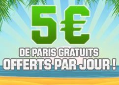 promotion 5 euros de paris gratuits offerts sur unibet