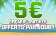 Pendant l'été, Unibet vous offre 5 euros chaque jour pour parier gratuitement