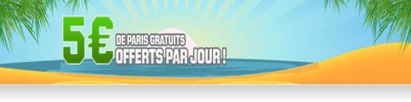 promotion 5 euros gratuits unibet