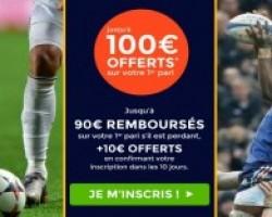 90 € + 10 € de bonus sont offerts pour toute inscription sur Parionsweb