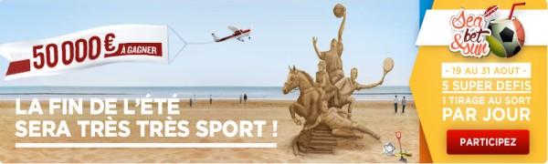 50 000 € offerts sur 5 défis avec betclic.fr