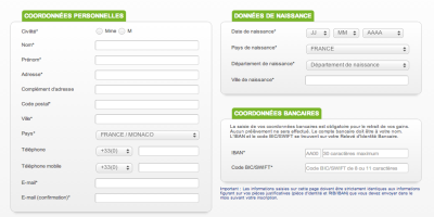 formulaire d'inscription parionsweb