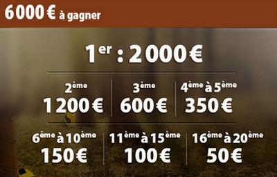 6 000 euros à gagner sur le challenge la chasse aux bonus