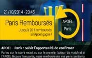 L'offre Paris Remboursés de Bwin sport : jusqu'à 20 euros de paris gratuits offerts sur vos paris perdants