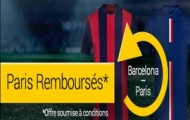 Offre pari remboursé sur Barça - PSG : Bwin vous rembourse jusqu'à 20€ sur vos paris perdants