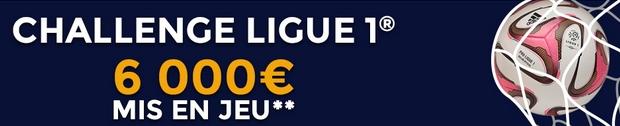 6 000 euros à gagner sur le challenge Ligue 1 de Parionsweb