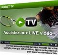 La télévision d'Unibet