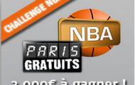 Challenge NBA : 3000 euros de paris gratuits offerts en pariant sur le basket américain