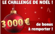 France Pari propose le Challenge de Noël : 3000 euros offert aux meilleurs parieurs