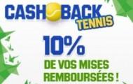Cashback Tennis sur Unibet : 10% de vos mises sur le tennis vous sont reversés en paris gratuits
