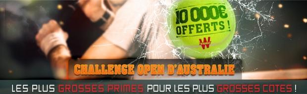 Open d'australie sur winamax : 10 000 euros à gagner