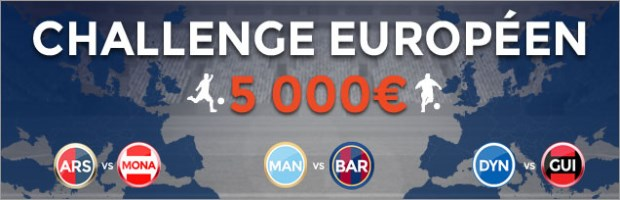 Challenge coupe d'europe ParionsWeb
