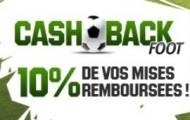 Cashback Foot : Unibet vous rembourse 10% de vos paris sur le football