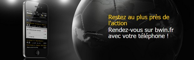 Les applications mobile Bwin