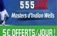 Masters Indian Wells sur Unibet : pariez en direct sur les rencontres et remportez 5 euros par jour