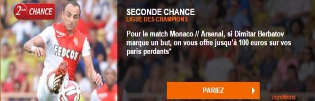 Seconde Chance Monaco Arsenal