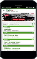PMU turf appli mobile