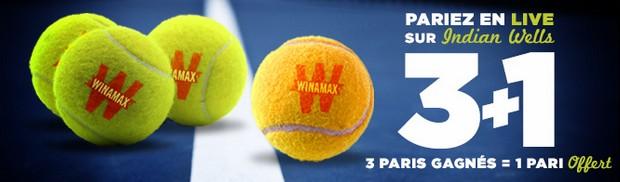 3+1 Indian Wells sur Winamax
