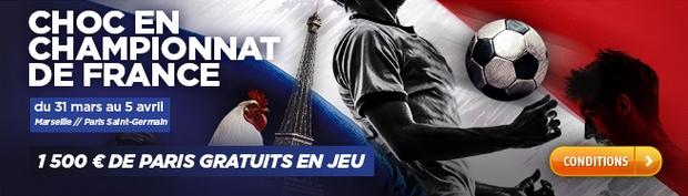 Choc en championnat de France OM-PSG sur PMU