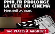 Fête du cinéma sur PMU : 100 places à gagner si vous pariez le 25 mars sur le sport de votre choix
