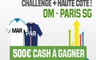 Pariez avec la plus haute cote sur OM-PSG et remportez 800 euros, en plus de vos gains