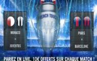 Quart de finale Ligue des Champions sur Winamax : Paris gratuits offert sur PSG et Monaco