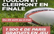 Champions Cup PMU : pariez sur la finale de rugby Toulon/Clermont et remportez 1.500€