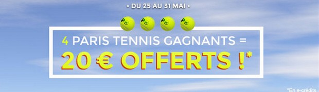 challenge tennis sur ParionsWeb