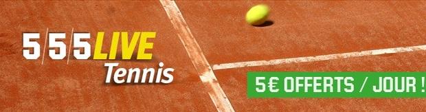 5/5/5 live tennis sur Unibet