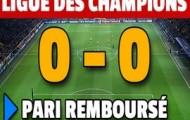 France-pari rembourse votre pari en cas de 0-0 sur les 1/2 finales de ligue des champions
