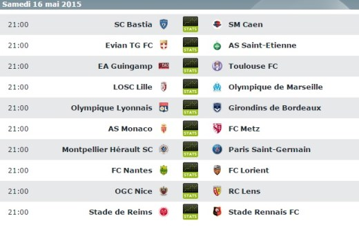 Matches Ligue 1 Combi Assuré
