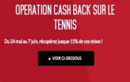 Opération cashback sur le tennis avec Zebet : récupérez jusqu'à 15% de vos mises perdantes