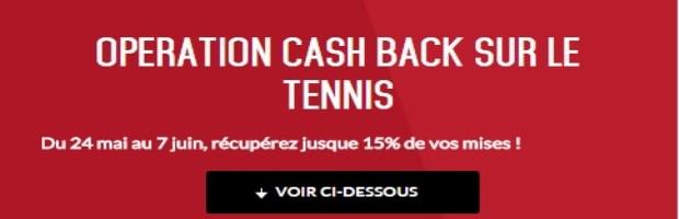 Cashback Tennis sur ZeBet