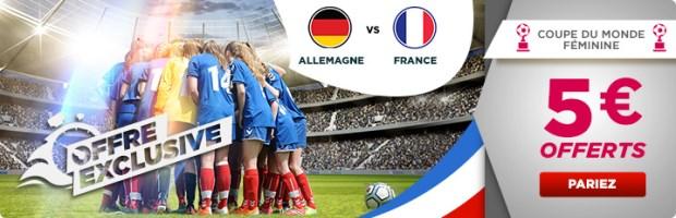 Bonus offert sur Allemagne-France