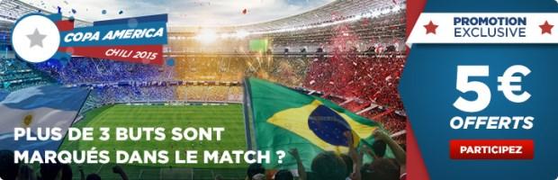 Paris offerts Copa America sur Betclic