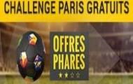 Prenez part au Challenge Paris Gratuits : jusqu'à 600 euros offerts par personne en pariant sur le foot