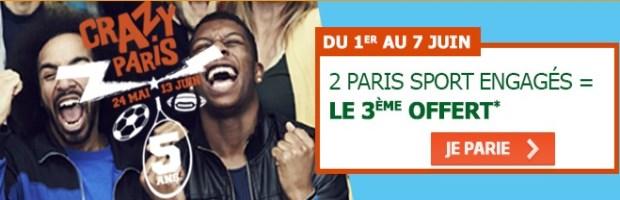 Bonus Crazy Paris sur PMU