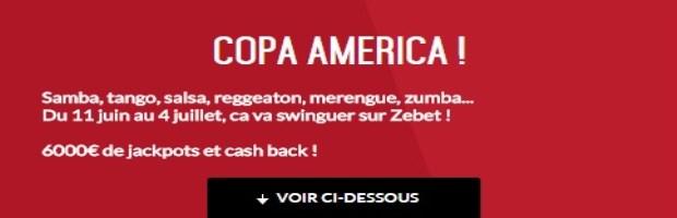 Challenge Copa America sur Zebet