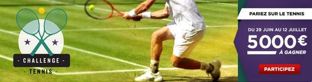 Challenge tennis de Wimbledon avec Betclic