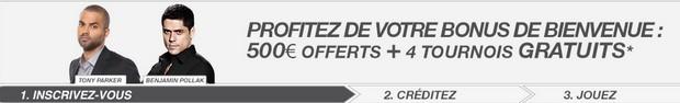 500€ de bonus sans code promo Betclic
