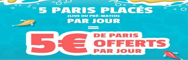 france pari 5 paris placés = 5€ offert