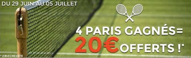 Tournoi de tennis de Wimbledon sur ParionsWeb