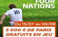 Challenge Four Nations sur PMU : 5.000 euros mis en jeu du 15 juillet au 8 août pour les meilleurs parieurs rugby