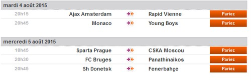 match qualification ligue des champions