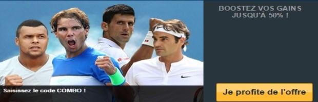 Pari combiné US Open France Pari