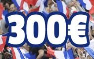 France-Pari récompense vos nouveaux dépôts : Jusqu'à 300 euros offerts du 28/07 au 16/08